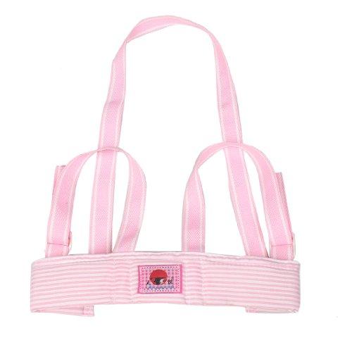 Rosallini Pink White Stripe Kid Toddler Walking Walker Safety Harness Padded Vest Keeper Strap