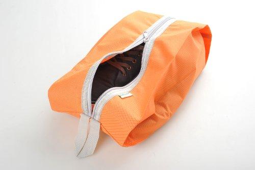 Schuhtasche / -beutel für Reisen aus einfachem Stoff, Farbe: orange, Mod. JE-00013-ORANGE