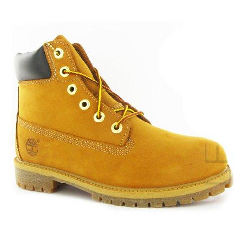 Timberland 6 Premium Wheat Nubuck Juniors Boots Size 5