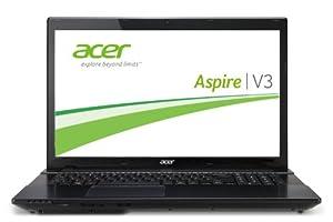 Acer Aspire V3-772G-747a8G1TMakk 43,9 cm (17,3 Zoll) Notebook (Intel Core i7 4702MQ, 2,2GHz, 8GB RAM, 750GB HDD, NVIDIA GF GTX 760M, DVD, kein Betriebssystem) schwarz