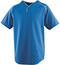 Adult Wicking One-Button Baseball Jersey 2X-Large from Augusta Sportswear