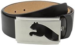 Puma Men\'s Highlight Fitted Belt, Black, Medium