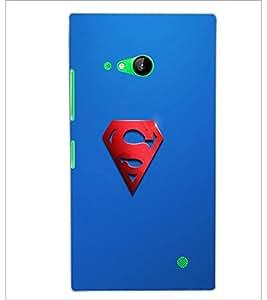 PrintDhaba Superman Logo D-2447 Back Case Cover for NOKIA LUMIA 730 (Multi-Coloured)