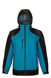 Viking Men\'s Alpine Waterproof/Breathable Jacket, Blue/Black, Medium