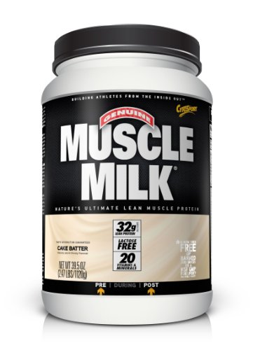 Christmas CytoSport Muscle Milk, Cake Batter, 2.47  Pound Deals
