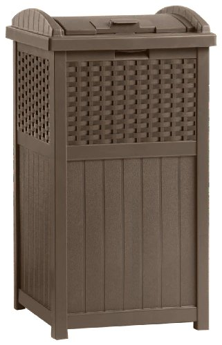 Suncast GHW1732 Resin Wicker Trash Hideaway (Wicker Garbage Can compare prices)