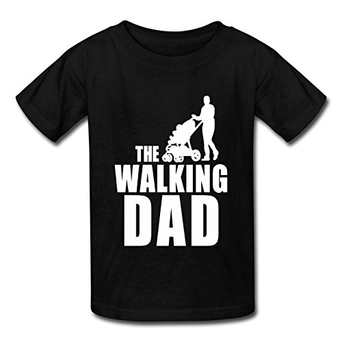 Big Boys'/Girls' Fathers Day Gift The Walking Dad T Shirt T-Shirt - BlackYILIAX10350Large
