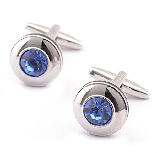Gudeke-Blue-Crystal-Cufflinks-French-Shirt-Cuff-Nail-for-Men