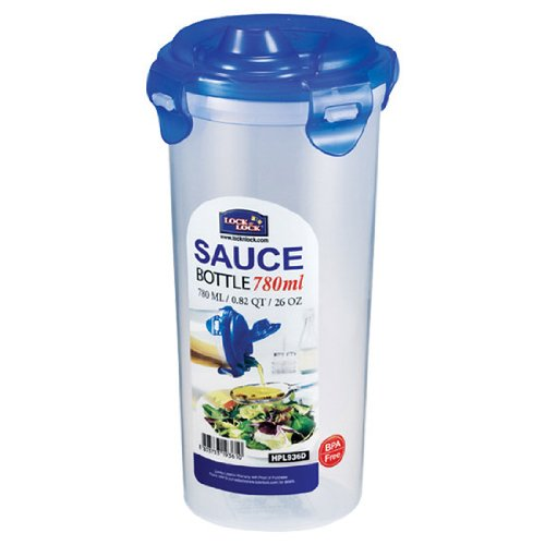 Lock&Lock 26-Fluid Ounce Round Sauce Container, Tall, 3.2-Cup