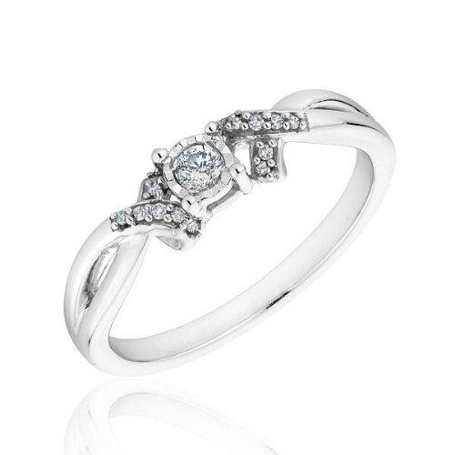 Diamond Promise Ring 1/8ctw - Size 6