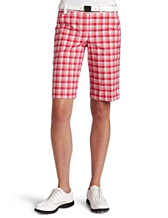 Women's Golf Pattern Bermudas Golf Short, island green, 10 : Clothing