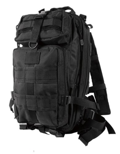 Black Military MOLLE Medium Transport Backpack