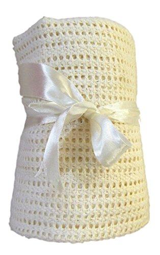 1x-cream-cellular-pram-moses-basket-blanket-100-cotton