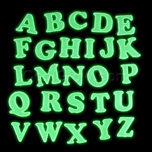Glow Stickers - Alphabet - 1
