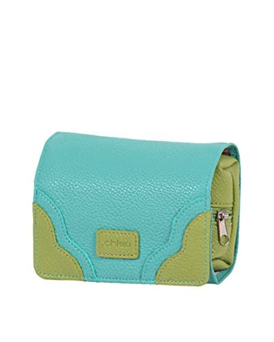 Morelle & Co. Two-Tone Jewelry Purse, Lime/Aqua