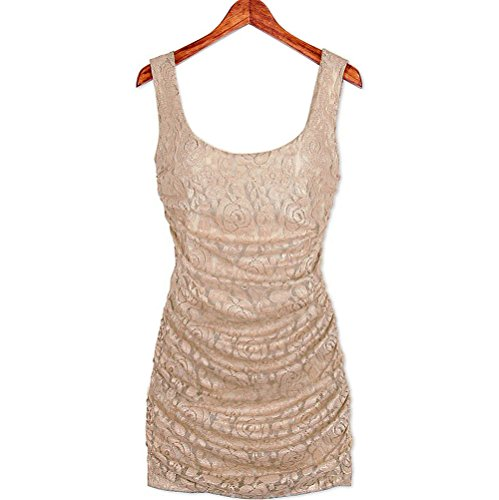 XIANKI Women's Sexy Lace Hip Package Slim Fitting Square Neck Nightclub Dress