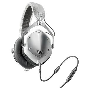V-MODA Crossfade M-100 Over-Ear Noise-Isolating Metal Headphone (White Silver)