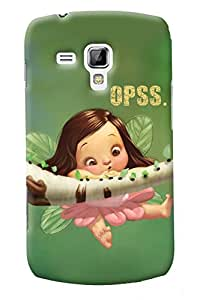 Fuson Cute Doll Back Case Cover for SAMSUNG GALAXY S DUOS 2 S7582 - D3981