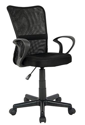 SixBros. Sedia ufficio sedia girevole nero - H-298F-2/2122