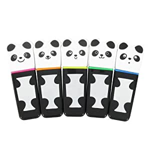 Paperchase Panda Highlighter Pens Pack Of 5 Amazon Co
