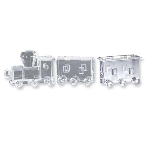 3pc Crystal Train Figurine