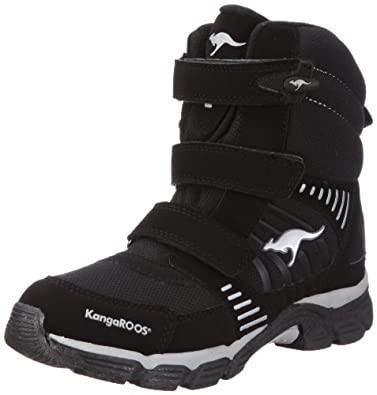 KangaROOS Barry-High, Unisex-Kinder Schneestiefel, Schwarz (blk/silver 590), 37 EU (4 Kinder UK)