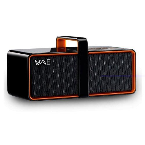 Hercules Ultra-Compact Bluetooth 2.0 Speaker - Retail Packaging - Black/Orange