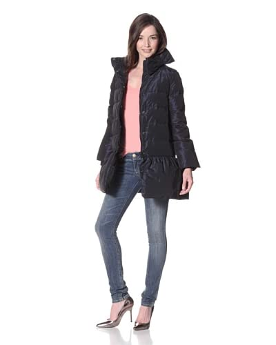 RED Valentino Women's Quitled Down Coat  - Blue