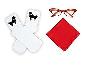 Hip Hop 50s Shop Child 3 Piece Accessories (Red)