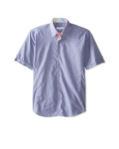 Jared Lang Men's Short Sleeve Shirt with Contrast Trims