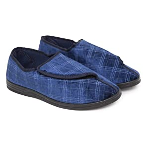 Mens Patterned Indoor Footwear/Slippers With Velcro