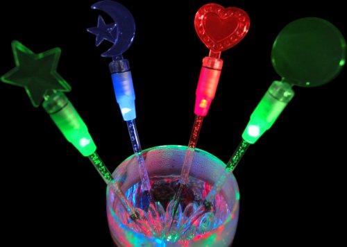 LED Light Up Drink Stirrers, Set of 12