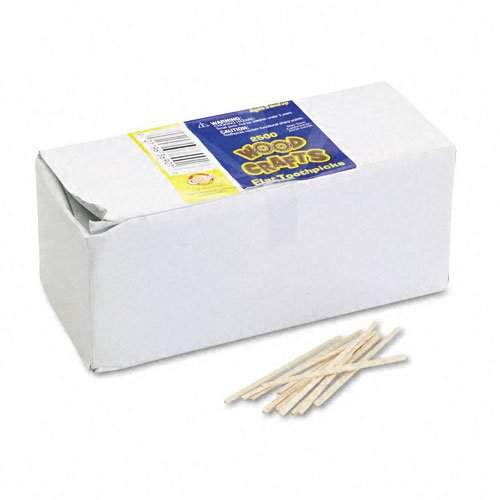 Flat Wood Toothpicks, , Wood, Natural Wood, 2500/Pack, Sold as 1 Package