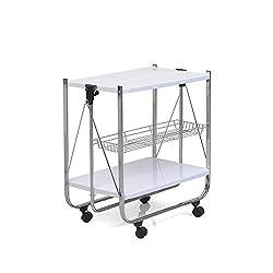 @home By Nilkamal Keev Foldable Serving Cart (White)