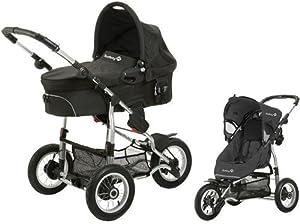 Safety 1st 75703660 Ideal Sportive - Carrito convertible, incluye silla, capazo y adaptadores, color negro en BebeHogar.com