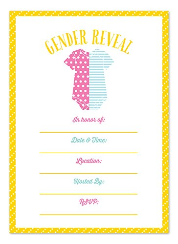 Gender Reveal Fill-In Invitations back-115810