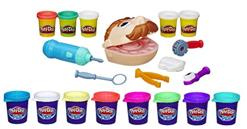 Play-Doh Plus Doctor Drill N Fill Set Various Mixed Colors Kids Creative Imaginary Play Dentist Toy (Play Doh Drill compare prices)