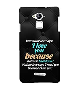 EPICCASE mature love quotes Mobile Back Case Cover For CoolPad Note 3 (Designer Case)