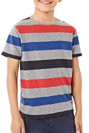 Block Striped T-Shirt [T87-2470L-S]