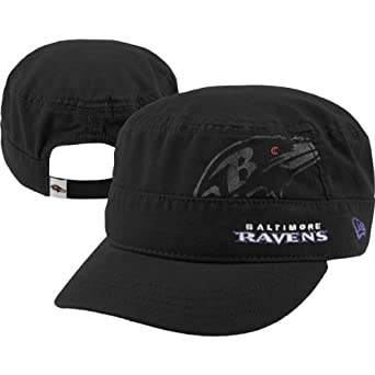 NFL Baltimore Ravens Goal-2-Go Ladies Military Cap, Black, One Size Fits All by New Era