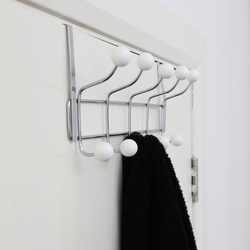 Premier housewares 0509734 appendiabiti da porta cromato - Ganci appendiabiti da porta ...