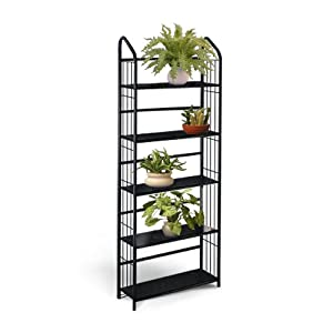 Black metal outdoor patio plant stand 5 tier - Tier plant stand outdoor ...