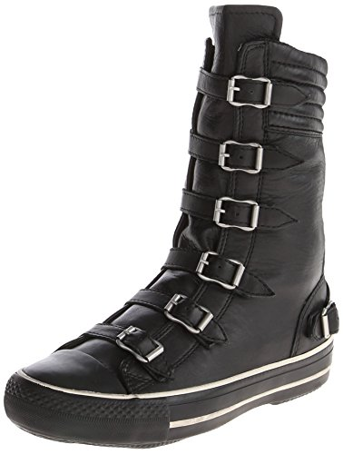 Ash Women's Vulcano Fashion Sneaker,Black,37 EU/7 M US