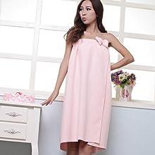 Pink Women39s Vogue Comfy Absorbent Microfiber Fleece Shower Spa Body Wrap Bath Towel