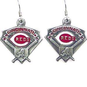 MLB Dangle Earrings - Cinncinatti Reds