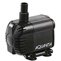 AquaV 528 GPH Submersible and In-line Water Pump With Filter - Use Inside or Outside Tank - UL Listed - 7.5 FT