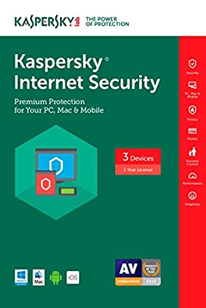 Kaspersky Internet Security 2017 | 3 Device | 1 Year | Download