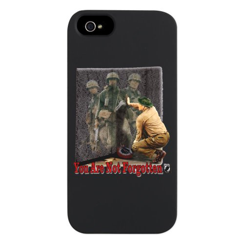 Great Price iPhone 5 or 5S Case Black POWMIA You Are Not Forgotten