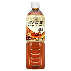 霧の紅茶 ストレートティー アッサム100% 無糖 PET 900ml×12本