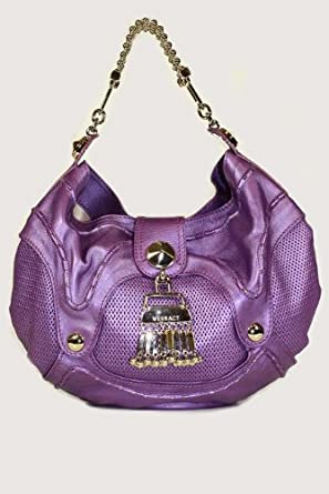 Versace Handbags Purple Leather DBFB748